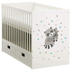 Mosómedve babaágy matrica