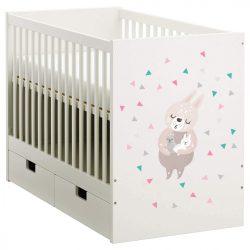Nyuszi babaágy matrica