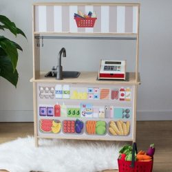 Kisbolt matrica - bézs - IKEA Duktig játék konyhára