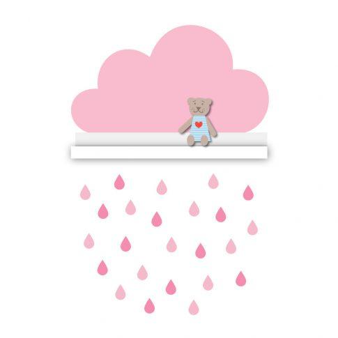 Felhő polcmatrica 55 cm - rózsaszín