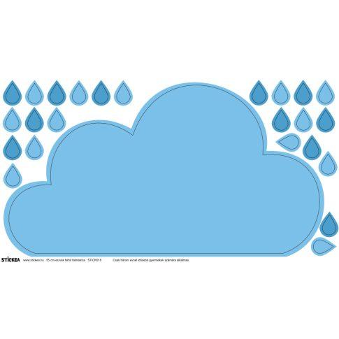 Felhő polcmatrica 55 cm - kék