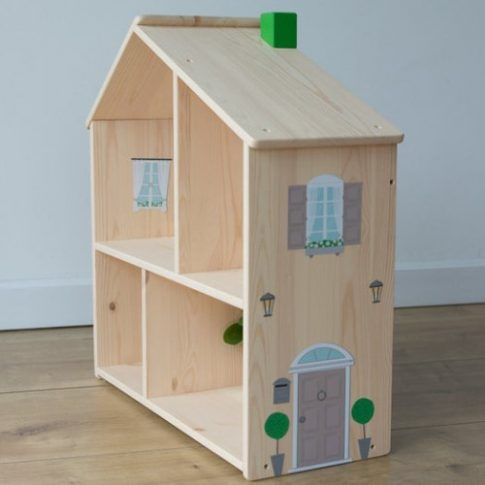 Kiegészítő matricák - barna - IKEA Flisat babaházra