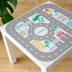 Városi utak - színes matrica - LACK asztalra