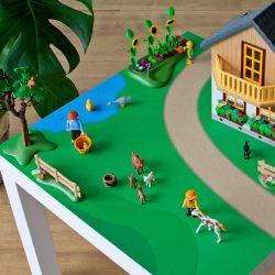 Zöldellő vidék matrica- LACK asztalra
