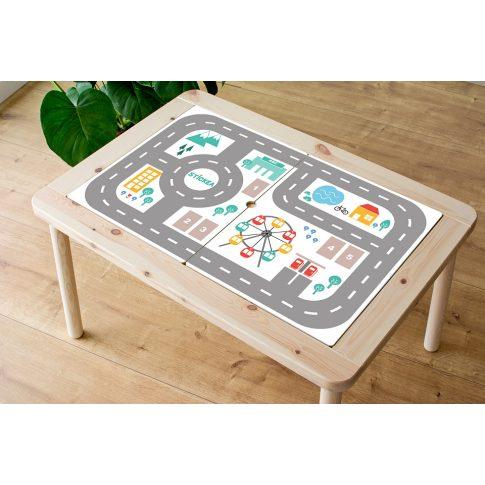 Városi utak - színes matrica - FLISAT asztalra
