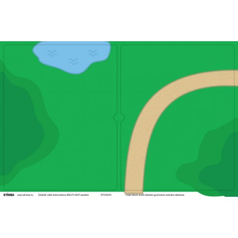 Zöldellő vidék matrica - FLISAT asztalra