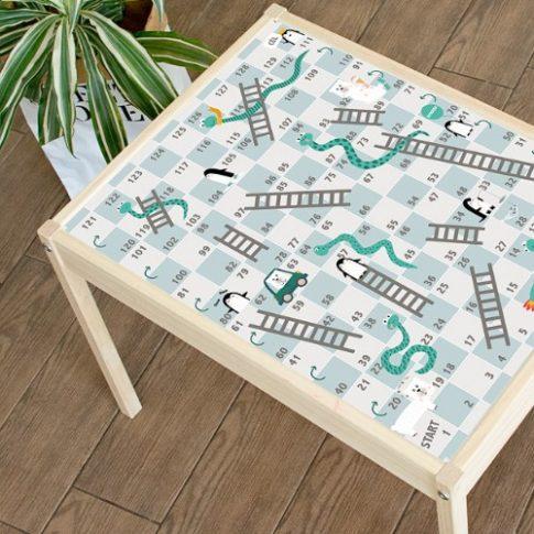 Kígyók és létrák társasjáték matrica - LÄTT asztalra