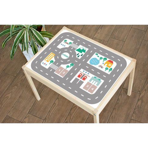 Városi utak - színes matrica - LÄTT asztalra