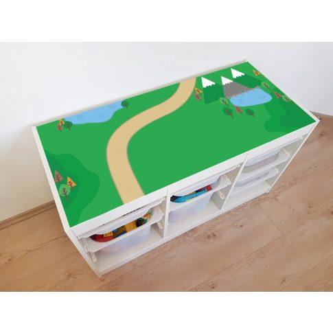 Zöldellő vidék matrica - fehér TROFAST kerethez