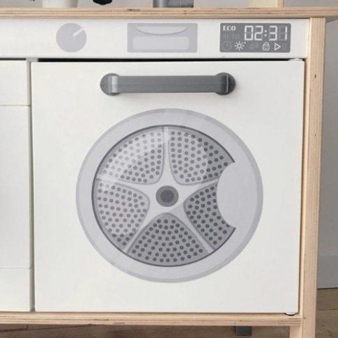Szárítógép matrica - IKEA Duktig konyhára