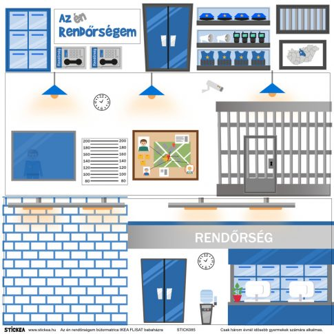 Az én rendőrségem matrica - IKEA FLISAT babaházra