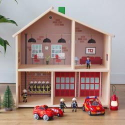 Az én tűzoltóságom matrica - IKEA FLISAT babaházra