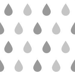 25 db esőcsepp falmatrica - szürke, nagy
