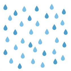 64 db esőcsepp falmatrica - kék, kicsi