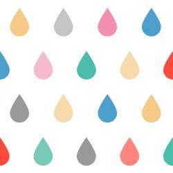 25 db esőcsepp falmatrica - tiritarka, nagy