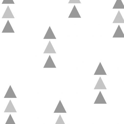 72 db háromszög falmatrica - szürke, kicsi