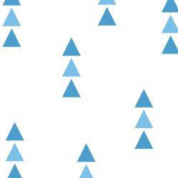 72 db háromszög falmatrica - kék, kicsi