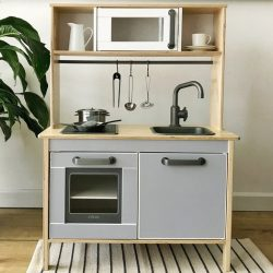 Alsószekrény matrica szett - szürke - DUKTIG játék konyhára