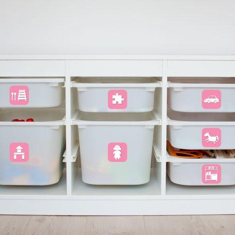 Játék rendszerező matrica - lányos, rózsaszín