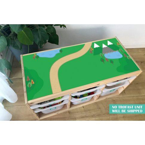 Zöldellő vidék matrica - fenyő TROFAST kerethez