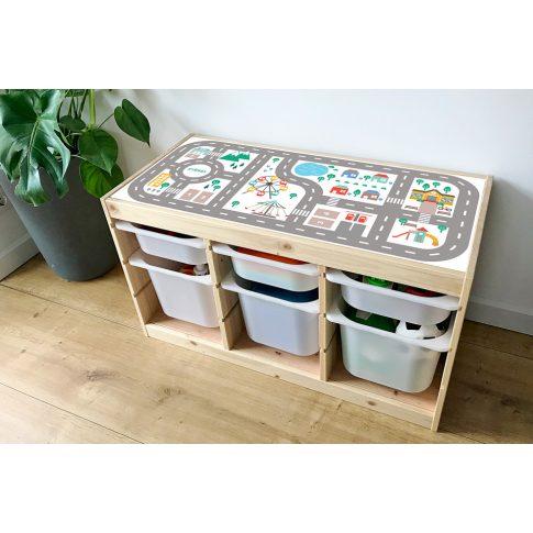 Városi utak - színes matrica - fenyő TROFAST kerethez