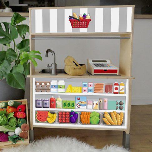 Kisbolt matrica - szürke - IKEA Duktig játék konyhára
