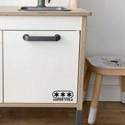 Hűtő matrica - fekete/fehér