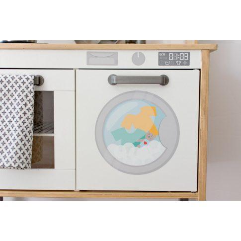 Mosógép matrica - IKEA Duktig konyhára