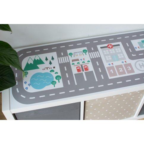 Városi utak - színes matrica - KALLAX polcos elemre