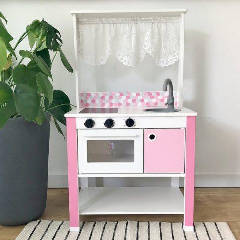 Rózsaszín matricacsomag - SPISIG játék konyhára