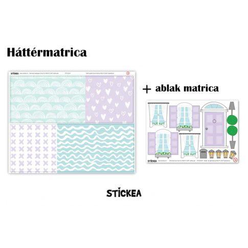 Sellő babaház matrica - IKEA Flisat babaházra