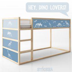 KURA ágymatrica - fiús dinós kék