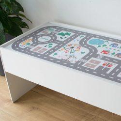 Városi utak - színes matrica - Dundra asztalra