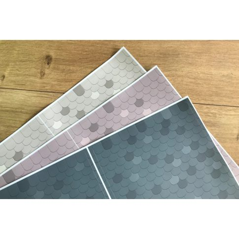 Tetőcserép matrica - IKEA Duktig babaházra (3 szín)