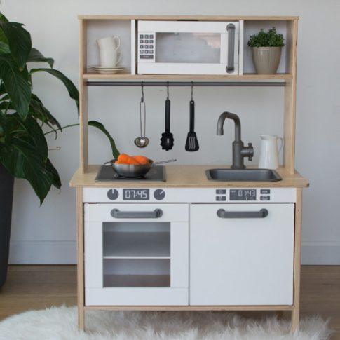 GOMB szett matricacsomag - szürke/fekete - IKEA Duktig játék konyhára