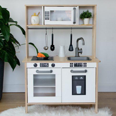 ICE COOL szett matricacsomag - szürke/fekete - IKEA Duktig játék konyhára